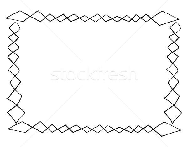 Egyszerű keret tér firkák négyszögletes forma Stock fotó © robuart