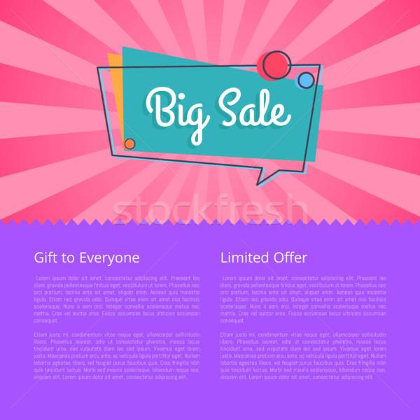Nagy vásár ajándék mindenki javaslat vektor Stock fotó © robuart