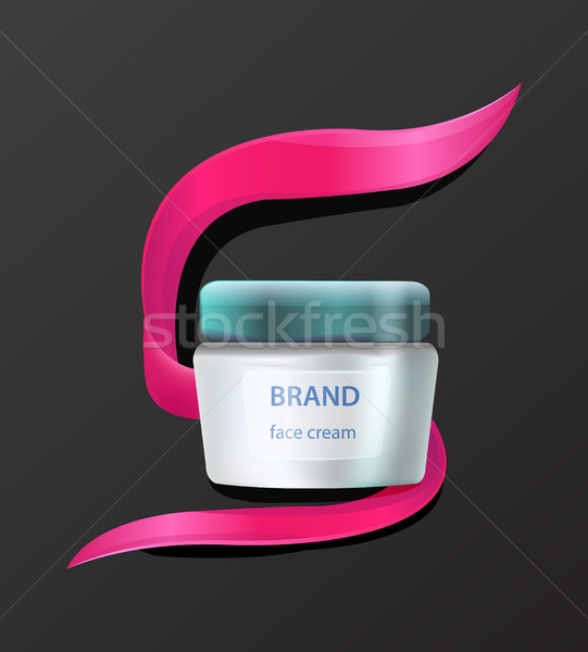 Brand Face Cream Product Advertising with Cosmetic Stock photo © robuart