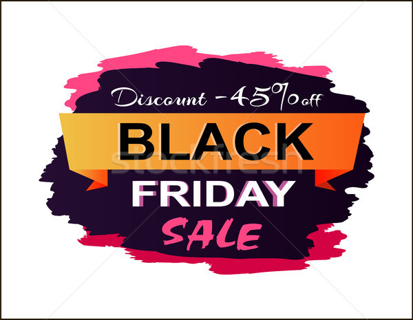 Discount 45 Black Friday Sale Vector Illustration Stock photo © robuart