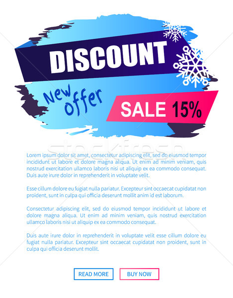 Discount New Offer -15 Sale Winter Label Snowball Stock photo © robuart