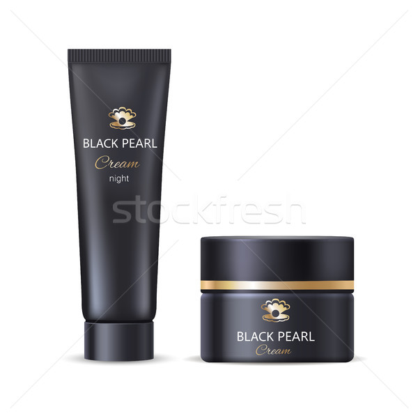 Negro perla noche cara mano crema Foto stock © robuart
