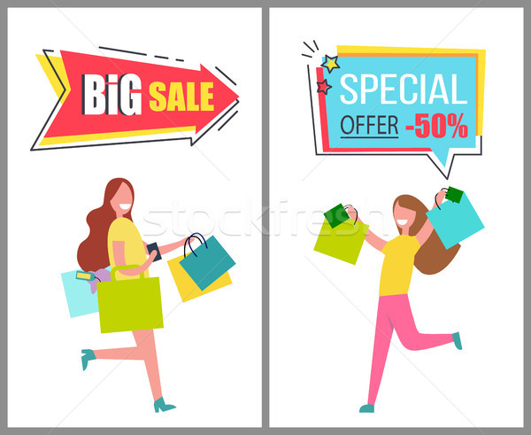 Big Sale and Special Offer Only For Womens Goods Stock photo © robuart