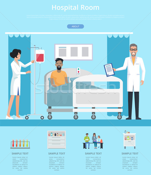 Hospital Room Services Vector Illustration Stock photo © robuart