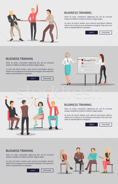 Сток-фото: бизнеса · подготовки · набор · веб · плакатов · люди
