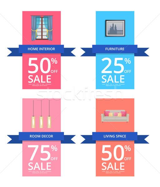 Home Interior and Room Decor Vector Illustration Stock photo © robuart