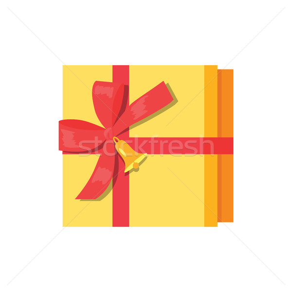 Gift Box Present Wrapped Package Icon Top Vector Stock photo © robuart