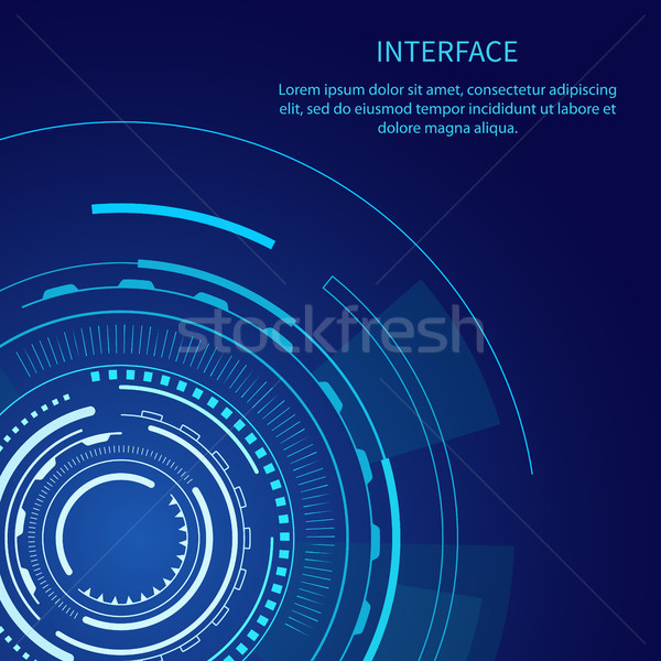 Gloomy Interface with Lot of Geometric Shapes Stock photo © robuart