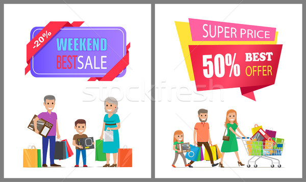 Super Price Best Offer Off Label on Poster Family Stock photo © robuart