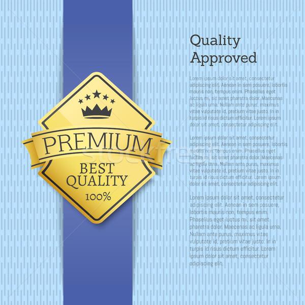 Qualité prime or étiquette emblème Photo stock © robuart