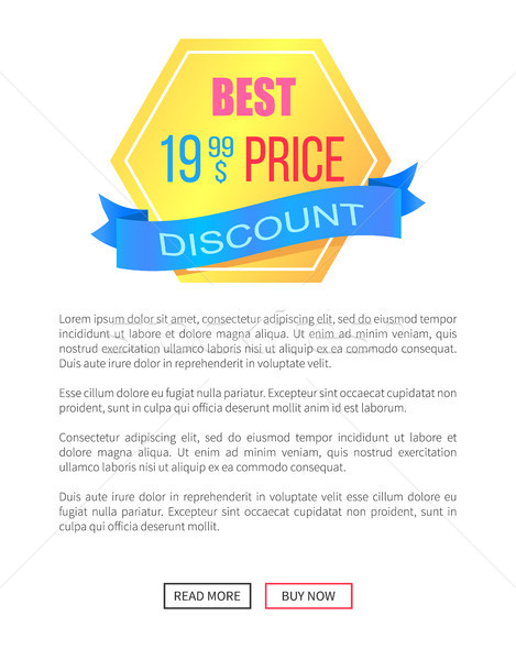 Discount Best Price Emblem Label Vector Poster Stock photo © robuart