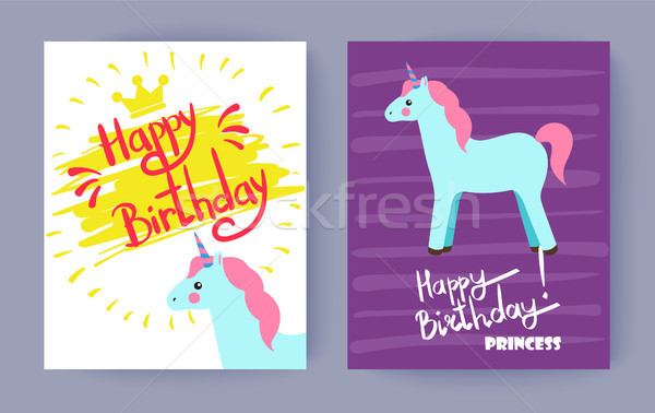 Happy Birthday Princess, Cute Celebration Banner Stock photo © robuart