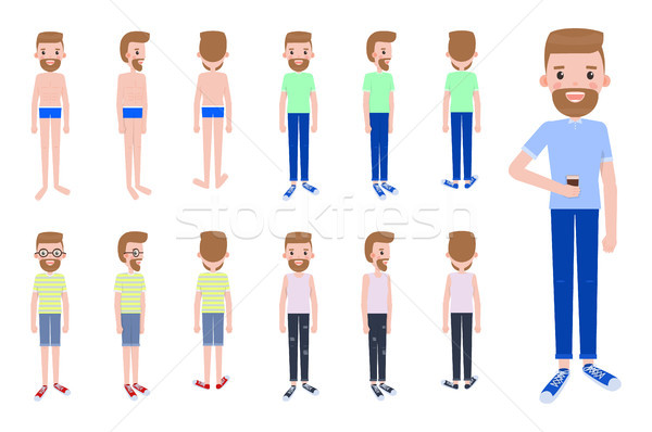 Male Character Constructor with Spare Outfits Stock photo © robuart