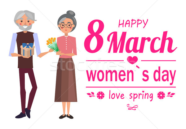 Happy 8 March Womens Day, Vector Illustration Stock photo © robuart