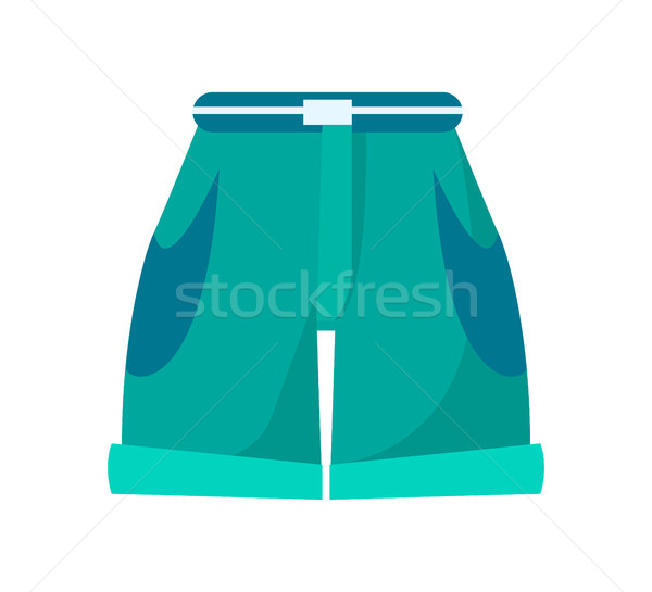 Shorts with High Waist, Thin Belt and Deep Pockets Stock photo © robuart