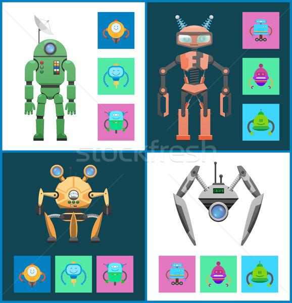 Start Set Robots Collection Vector Illustration Stock photo © robuart