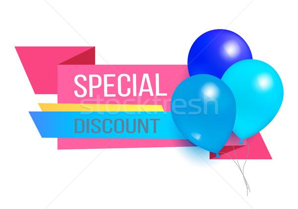 Speciale sconto promo etichetta lucido palloncini Foto d'archivio © robuart