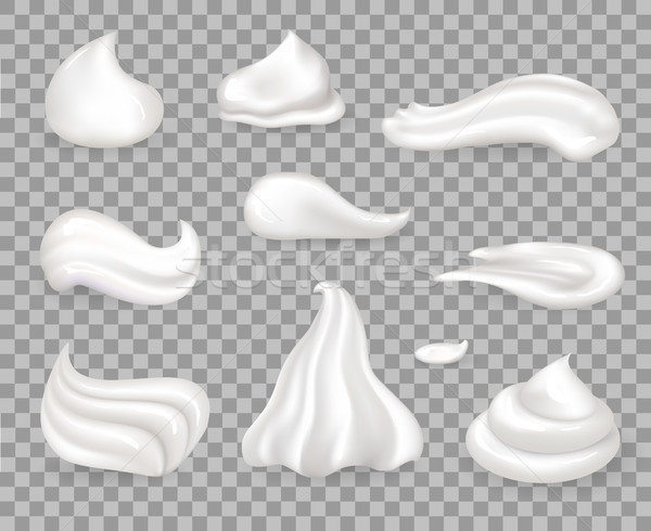Soft Sweet Delicious Whipped Cream Samples Set Stock photo © robuart