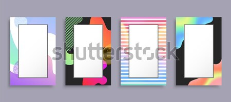 Abstract Photoframe with Blurred Pattern on Border Stock photo © robuart