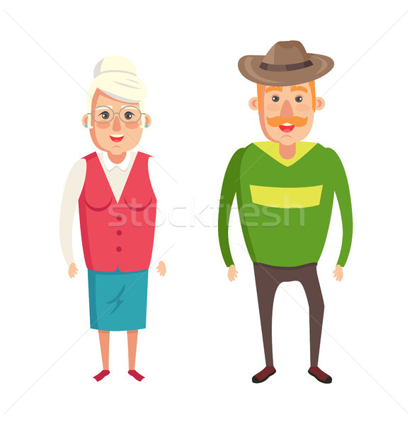 Avó avô casal idoso pessoas formal Foto stock © robuart