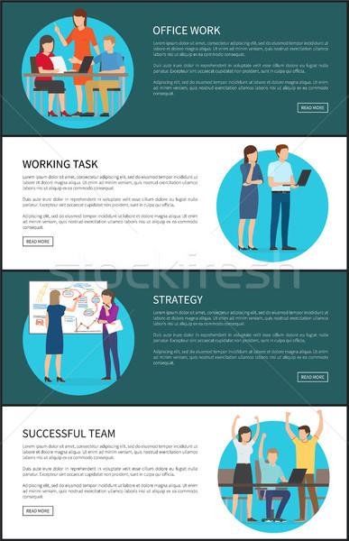 Ofis işleri strateji ayarlamak web metin Stok fotoğraf © robuart