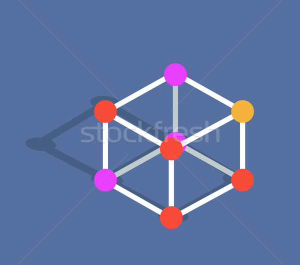 Molecule Mode Vector Illustration Isolated on Blue Stock photo © robuart