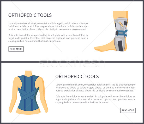 Orthopedic Tools Internet Site Vector Illustration Stock photo © robuart