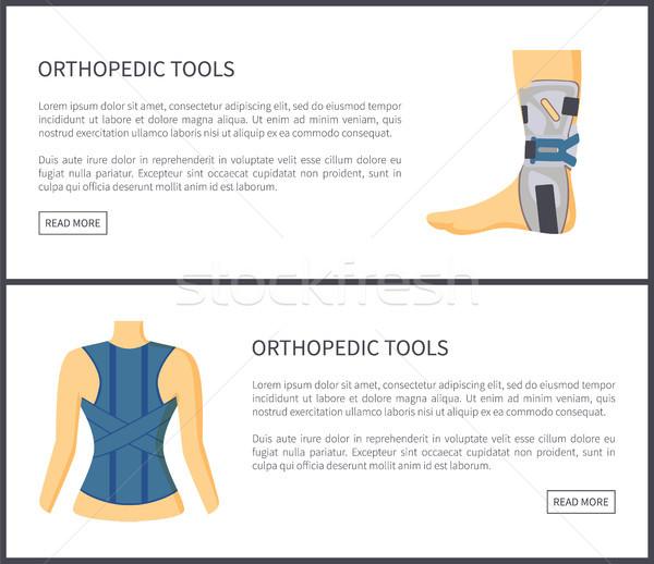 Ortopédico ferramentas internet coleção bandagem Foto stock © robuart
