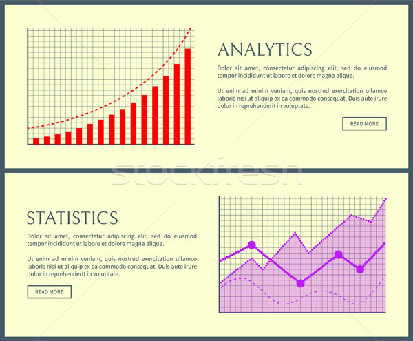 Estadística web establecer información analítica Foto stock © robuart