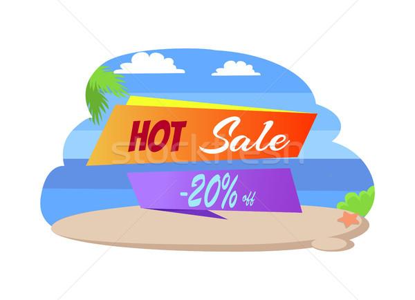 Caldo vendita 20 poster spiaggia tropicale Foto d'archivio © robuart