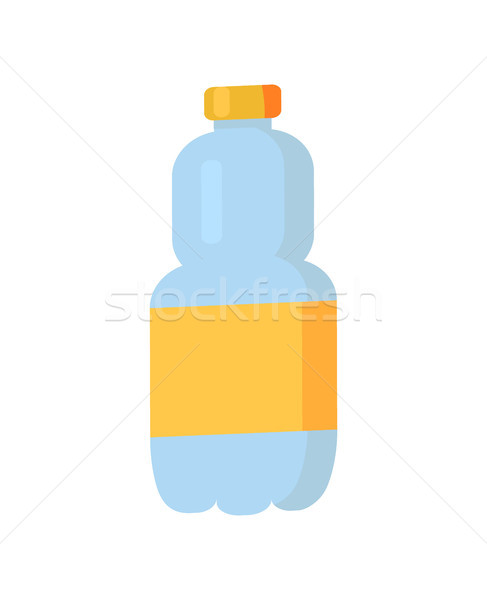Plastic Bottle with Label Vector Illustration Stock photo © robuart