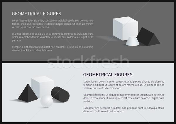 Geometrical Figures Poster Vector Illustration Stock photo © robuart