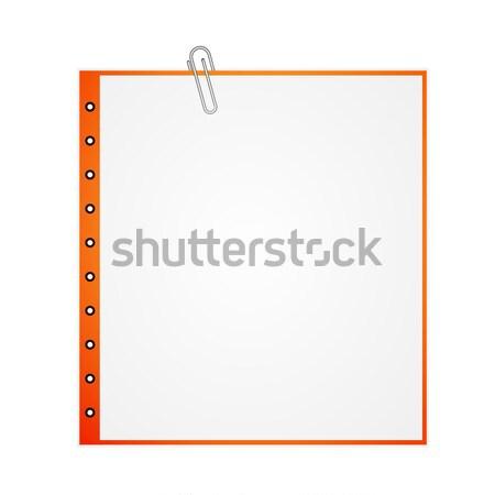 металл скрепку бумаги изолированный белый служба Сток-фото © robuart