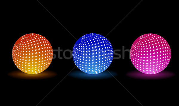 Digital Light Balls Stock photo © robuart