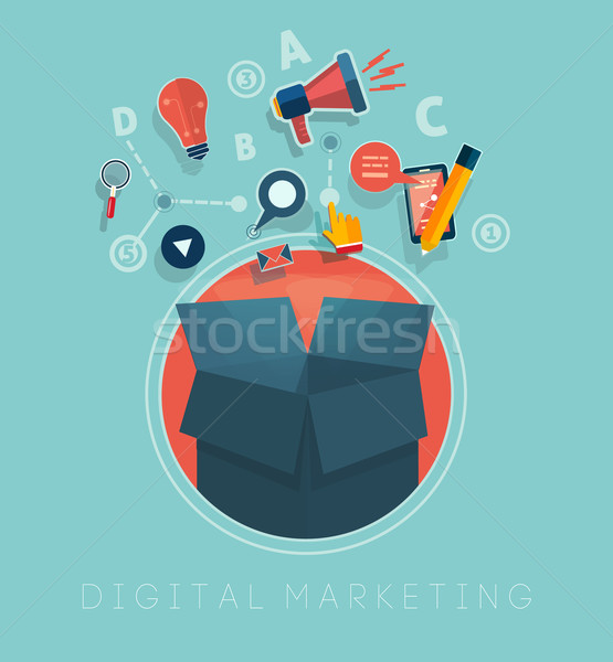 Stock photo: Digital marketing concept