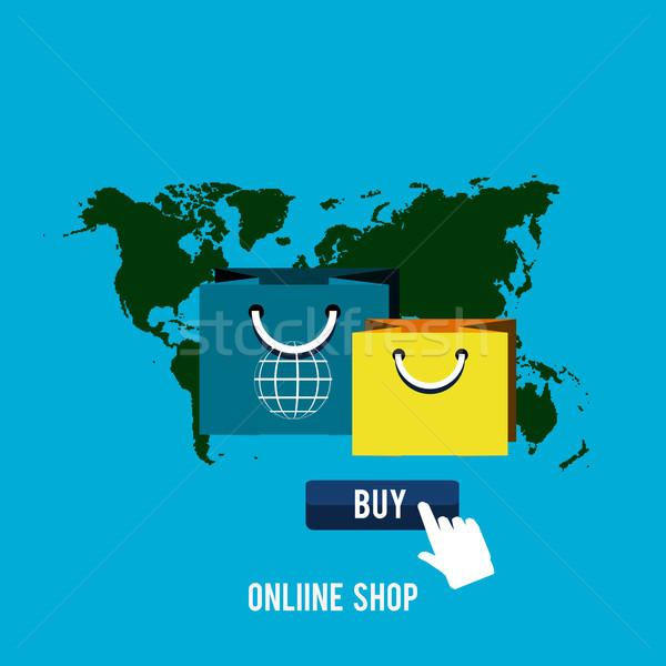 üzlet online ikonok poszter vásárol termék Stock fotó © robuart