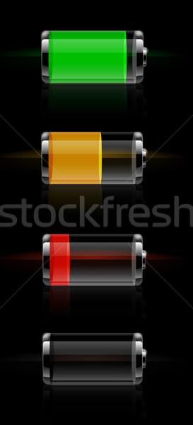 Fényes átlátszó elem szint index szett Stock fotó © robuart