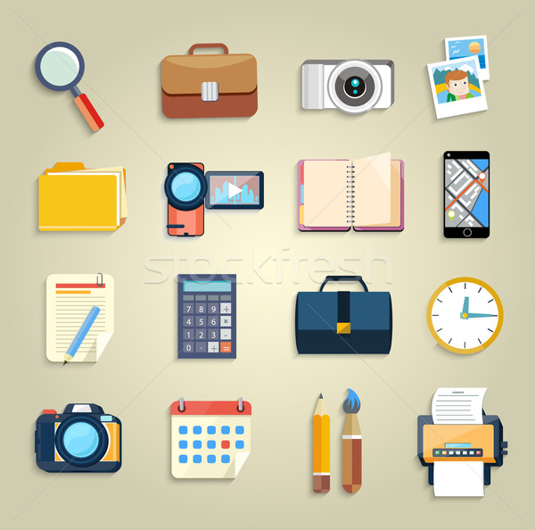 Zdjęcia stock: Działalności · biuro · obrotu · ikona · web · design · obiektów