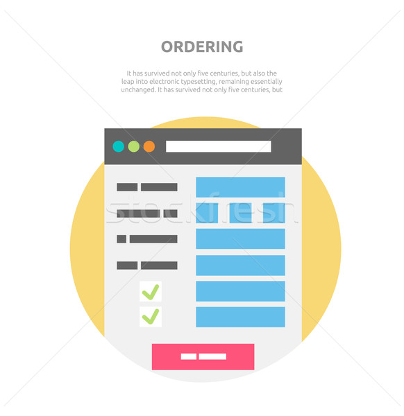 Ordering Website Element Design Stock photo © robuart
