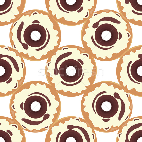 Donut Seamless Background Texture Pattern Stock photo © robuart