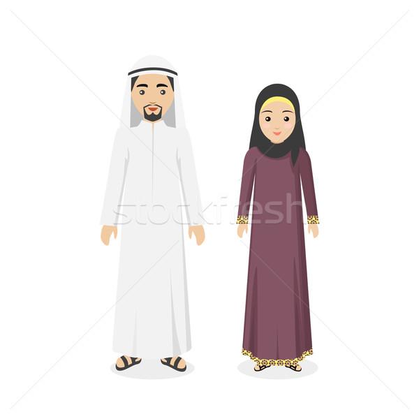 Szaúd-Arábia hagyományos ruházat emberek arab muszlim Stock fotó © robuart