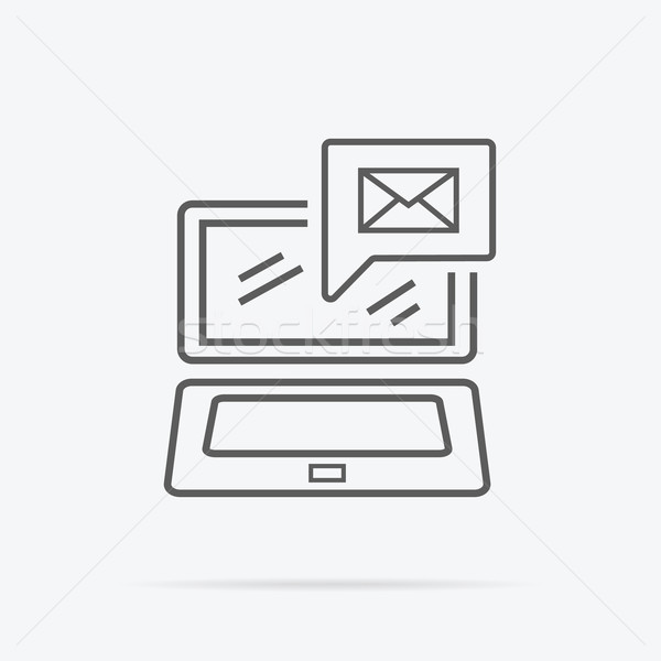 Contact Concept Message and Laptop Icon Stock photo © robuart