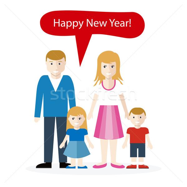 Angielski gratulacja szczęśliwego nowego roku uroczystości powitanie wesoły Zdjęcia stock © robuart