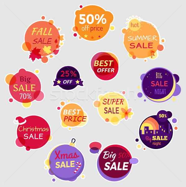 Collection of Sale Elements Stock photo © robuart