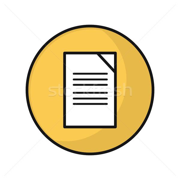 Photo stock: Document · vecteur · icône · style · design · papier