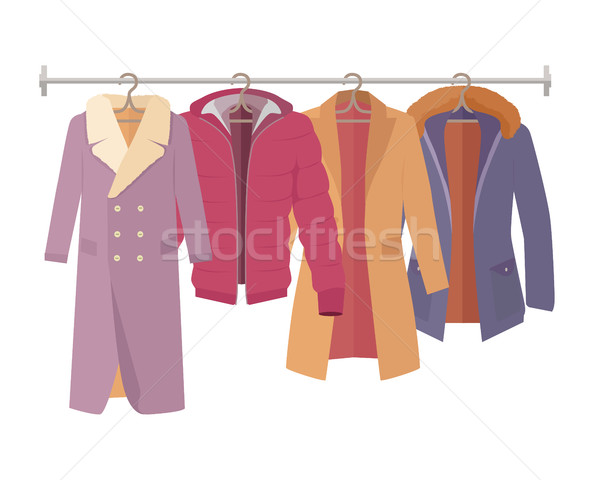 Winter Outerwear Sale Banner Winter Collection Stock photo © robuart