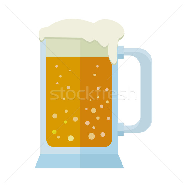 Glass of Beer Isolated on White. Mug or Tankard. Stock photo © robuart