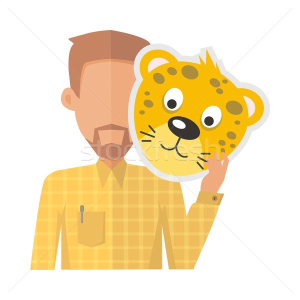 Man Without Face with Tiger Mask Isolated Stock photo © robuart