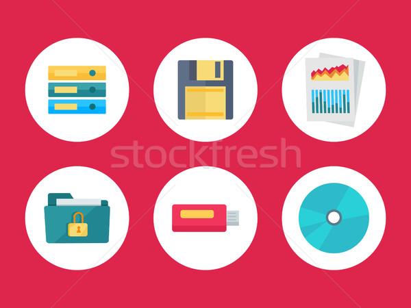 Equipment for Data Storage. Data Recovery Stock photo © robuart