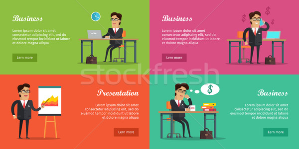 Business Baners Set Stock photo © robuart